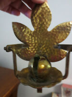 VINTAGE BRASS NAUTICAL SWIVEL CANDLE HOLDER BY SAMBRA PRODUCTS