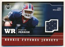 ROSCOE PARRISH 2005 UD UPPER DECK RC ROOKIE FUTURES BILLS RELIC JERSEY SP F1