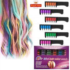 6Pcs temporanea Gesso per Capelli Pettine Tintura per capelli per Halloween Festa Party Cosplay