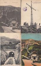 Lot 4 cartes postales anciennes LOURDES funiculaire pic du jer 2
