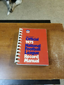 1975 NFL FOOTBALL RECORD MANUAL GUIDE