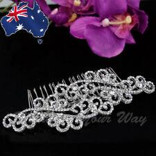 SALE Vintage Style Gatsby Bridal Hair Comb Diamante Crystal Wedding Formal HC-6