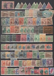 Guatemala 100x classic used stamps