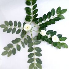 24x Long Leaves Olive Artificial Silk Leaf Branch Small Greenery Basket Filler