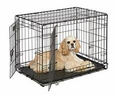 Dog Crate | MidWest I Crate 30 Inch Double Door Folding Metal Dog Crate w/ Di...