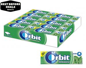 Wrigley's Orbit Spearmint (Hierbabuena) Chewing Gum - 30 x 14g - BBE 01/03/2021