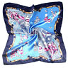 Mode Femmes Carré Foulard Sport Satin Soie Bandage Foulard Cou Echarpe Floral NF