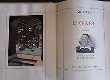 L'Avare - Les Précieuses ridicules, MOLIERE. Illustrations de Jean GRADASSI.