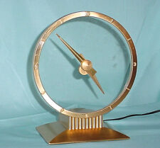 Vintage Jefferson Golden Hour Electric Mystery Clock Mid Century Works Very Nice