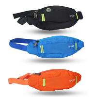 Men Women Sports Bum Bag Waist Pack Belt Bag Phone Key Nylon Storage Pouch