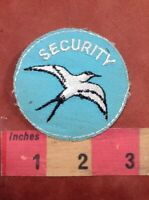 Bird Flying Round SECURITY ~ Security / Police Type Patch 76YF