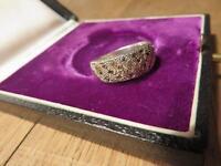 Bezaubernderr 925 Silber Ring Markasiten modern Designer Vintage Retro Jugenstil