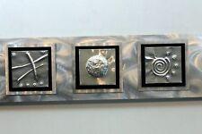 Silver Metal Abstract Modern Wall Art Sculpture Decor - 5 Elements By Jon Allen