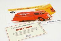 DINKY TOYS ATLAS FICHE & CERTIFICAT / FORD CITERNE ESSO 25U