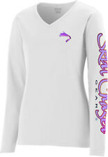Women's Long Sleeve White UPF 50+ Microfiber Performance Fishing Shirt