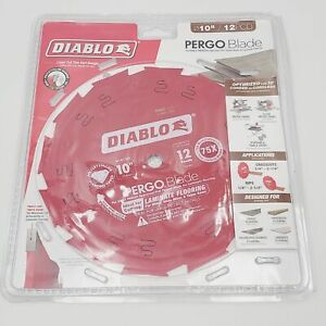 Freud Diablo 10'' D1012LF 12 PCD Laminate Flooring Blade for Pergo