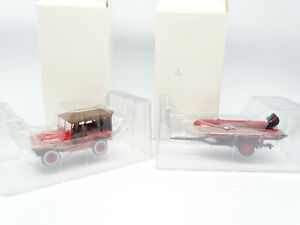 IXO Press Hachette Firefighters 1/43 - jeep + Trailer Zodiac City D' Uzes
