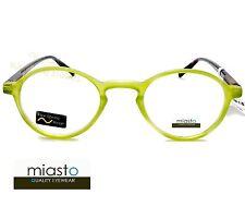 NWT$39.99 MIASTO RETRO ROUND KEYHOLE PREPPY READER READING GLASSES+2.00 GREEN