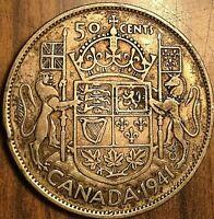 1941 CANADA SILVER 50 CENTS COIN