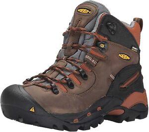 "Mens Keen Pittsburgh 6"" Soft Toe Durable Waterproof Brown Work Boots NEW"