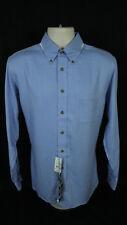 NWT Brooks Brothers Country Club Slim Dress Shirt Blue Cotton Cashmere Mens M