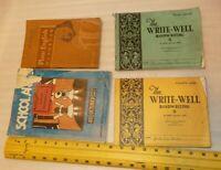 Vtg Lot 4 vintage school books 1930s Plain English, School Arts Magazine Writing