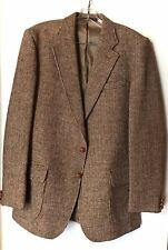 Harris Tweed Vtg Brown Featherweight Wool Blazer Jacket 40R 3 Button