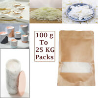 Wax Soy 100g to 25 kg  Soya Flakes 100 Pure Clean Burning Natural Candle Making
