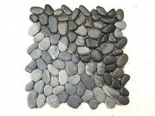 Ciottoli di fiume neri - Mosaico per rivestimento pareti interni / esterni