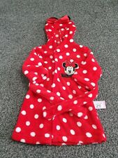 Baby Girls Minnie Mouse 6-9 Months Red Dressing Gown (P29)