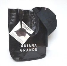 NWT ARIANA GRANDE Black Baseball Cap Hat & Bag Novelty Souvenir - 2 PIECE SET