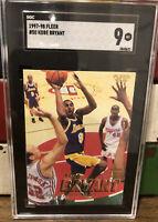 1997-98 Fleer Kobe Bryant #50 2nd Year Card Lakers SGC 9 MINT/New Slab!