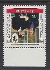 ST HELENA 1986 WEDDING 10p INVERTED WATERMARK SG 486w MNH.