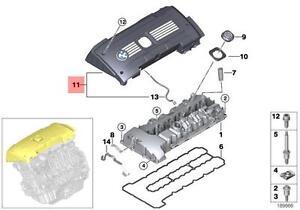 Genuine BMW E60N E61N E82 E88 E89 E90 Ignition Coil Covering OEM 11127575036