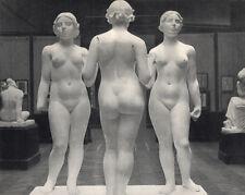 """Pleasant BLUMENFELD Antique 1930s Photogravure """"Les Trois Graces"""" FRAMED COA"""
