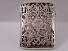 Fine Antique Sterling Silver Card Case. Birm1903 maker J Millward Banks 63.4grms