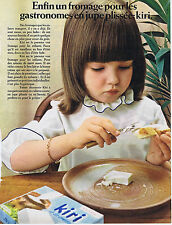 PUBLICITE ADVERTISING 094 1969 KIRI fromage pour gastronomes en jupe plissée