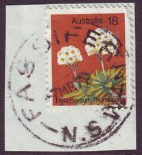 "NSW POSTMARK ""FASSIFERN"" ON 18c FLOWER DATED 1978 (A1719)"