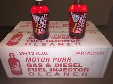 Motor Purr Gas & Diesel Fuel Injector Cleaner--Case of 24, With Accessories