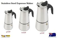 4 6 9 CUP ESPRESSO COFFEE PERCOLATOR STAINLESS STEEL SHORT BLACK COFFEE MAKER