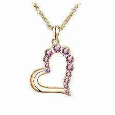 Crystal Heart Swarovski Crystal Rose Gold Heart Pendant