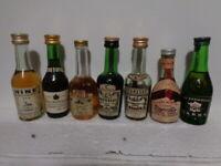 lotto di 7 COGNAC Mignon  Mignonette mini bottle Alcolici collezione liquori
