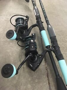 Dealer Case 2 PENN PURSUIT III 5000LE Saltwater Rod Reel Combos 7' 1pc Med Pier