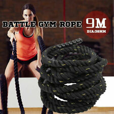 9M 38mm Battle Rope Battling Sport Power Ropes Gym Exercise Fitness Training
