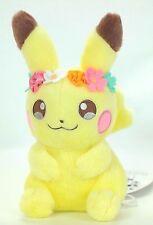 Rare Pokemon Center Original Limited Plush Bunny Flowers Pikachu Easter JAPAN
