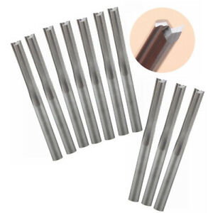 "10PCS Solid Carbide End Mill 3.175mm 1/8"" Shank 2 Straight Flute CNC Router Bit"