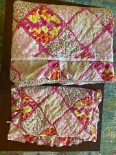 New listing Lilly Pulitzer For Garnet Hill Twin Quilt & Sham Bedding Set Comforter