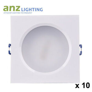 10 kits x 12W Dimmable Square Whit Frame LED Downlight Driver &Plug SAA Approval