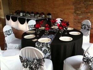 "1 piece 108 x 12"" Inch Damask Table Runner Flocked 3D Velvet Party Event Wedding"