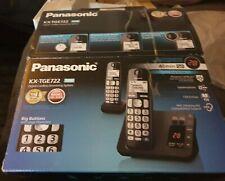 Panasonic KXTGE722EB Twin Digital Cordless Phone - Black
